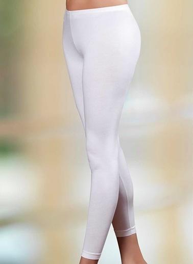 Şahinler Bayan Uzun Paça Tayt  Beyaz